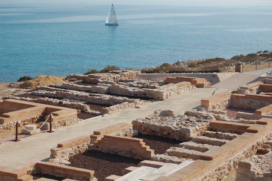 Restos íberos y romanos en la Illeta dels banyets
